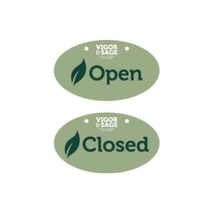 VIGOR & SAGE Open- / Closed-skilt