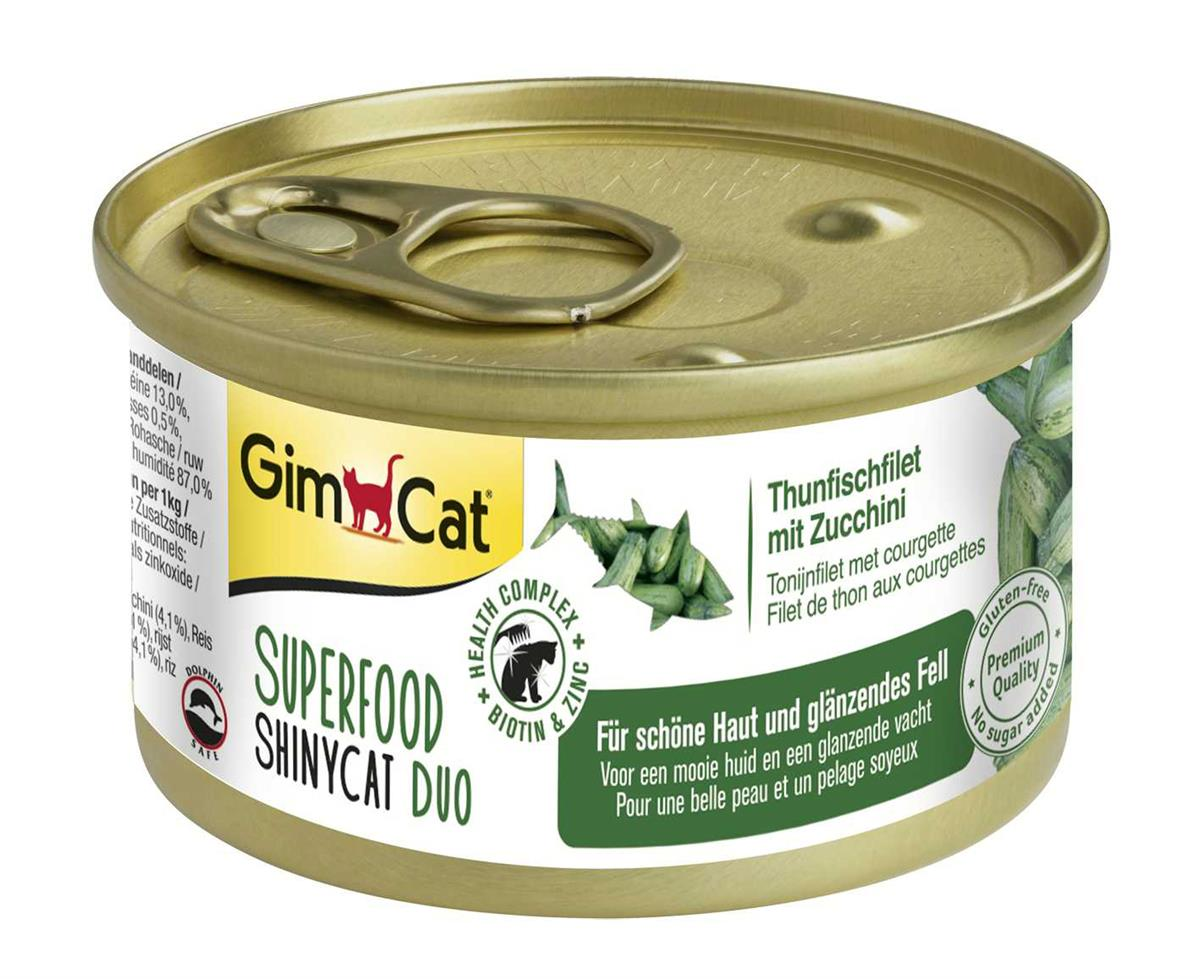 GimCat Superfood ShinyCat Duo Tunfiskfilet med Squash
