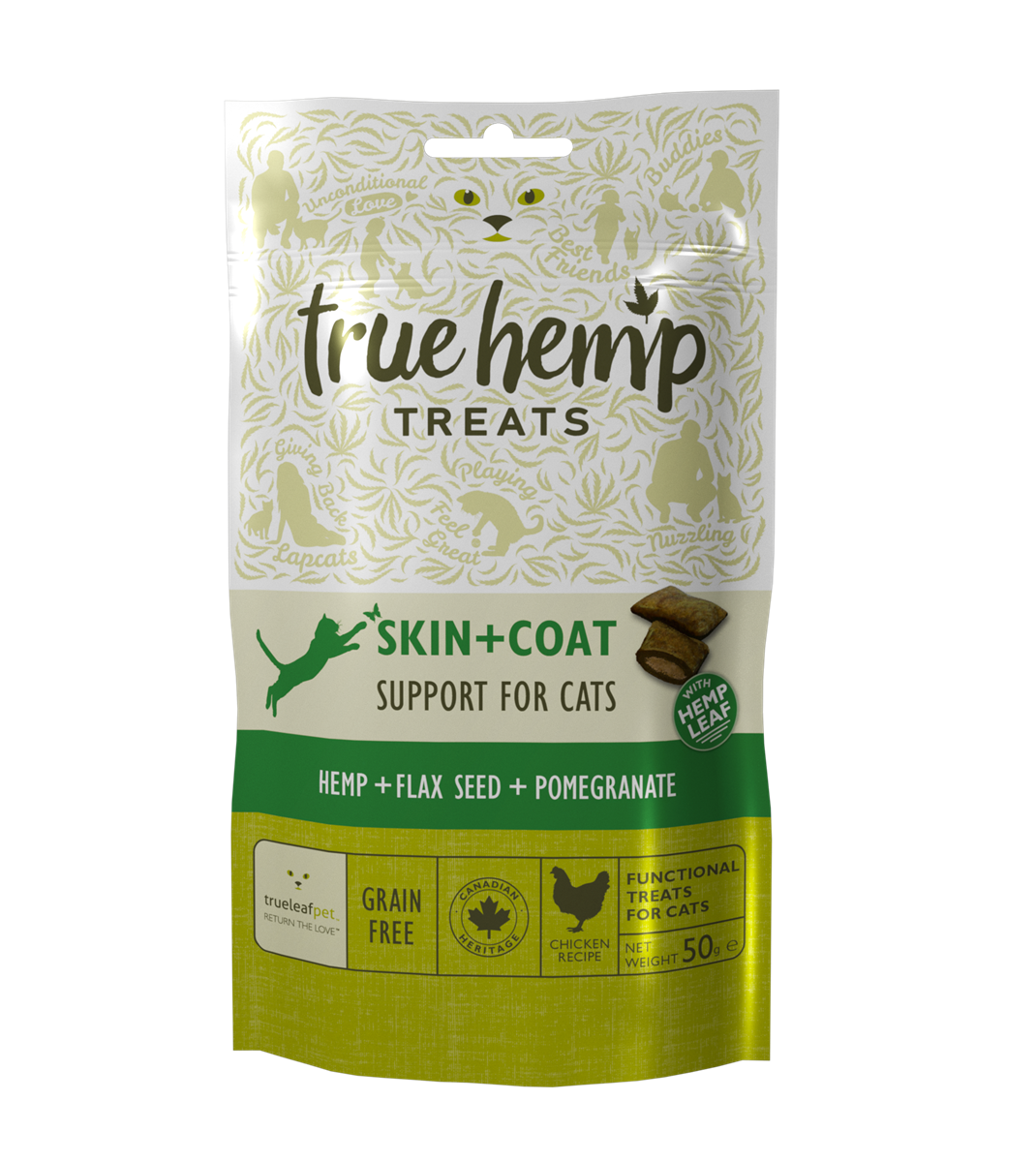 TOMT FRA LEVERANDØR-True Hemp Skin + Coat CAT treats