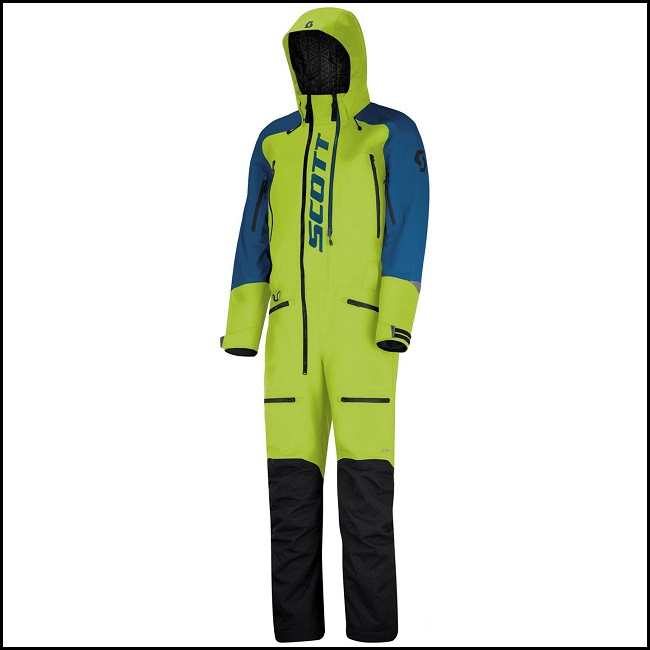 Scott Monosuit DS-S - Lime/Blå S