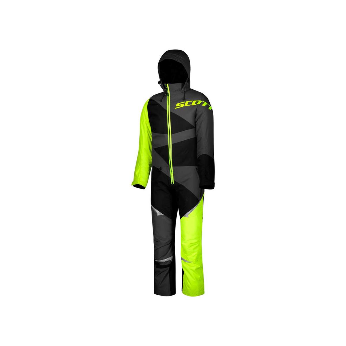 Scott Monosuit DP JR - sort/gul 130cm