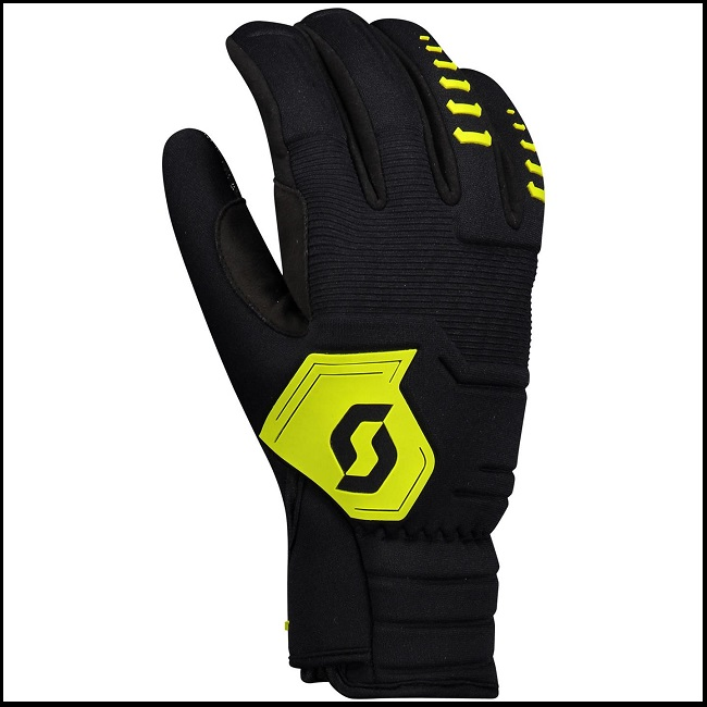 Scott Ridgeline Hansker - Sort/Lime, S