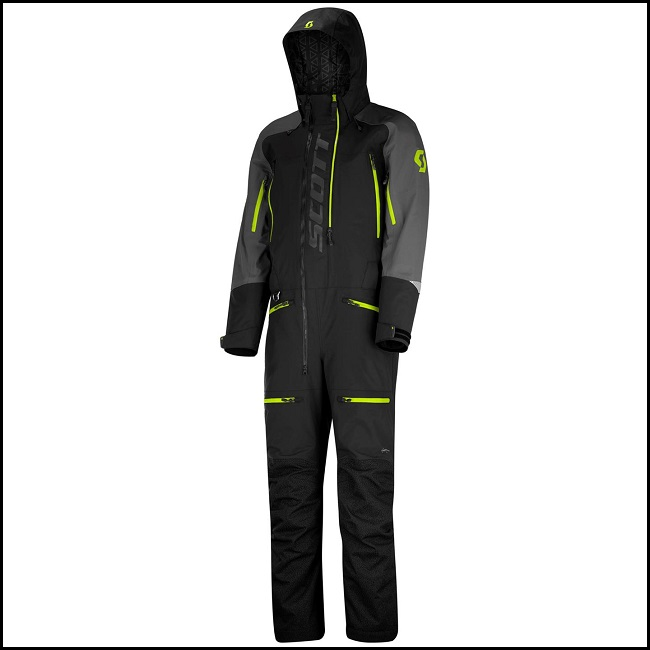 Scott Monosuit DS-S - Sort/Gul M
