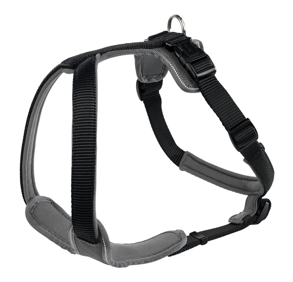 Harness Neopren XS 38-48 cm, 15 mm Nylon black/ Neopren grey