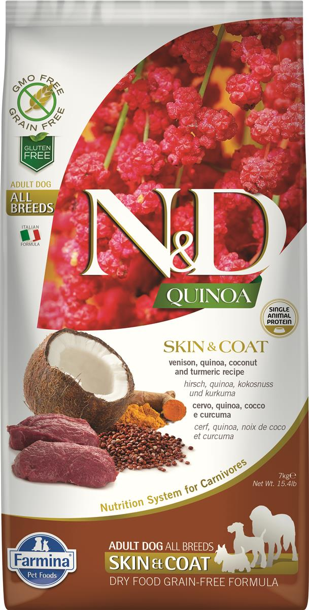 FARMINA N&D DOG QUINOA SKIN & COAT VENISON 7 KG