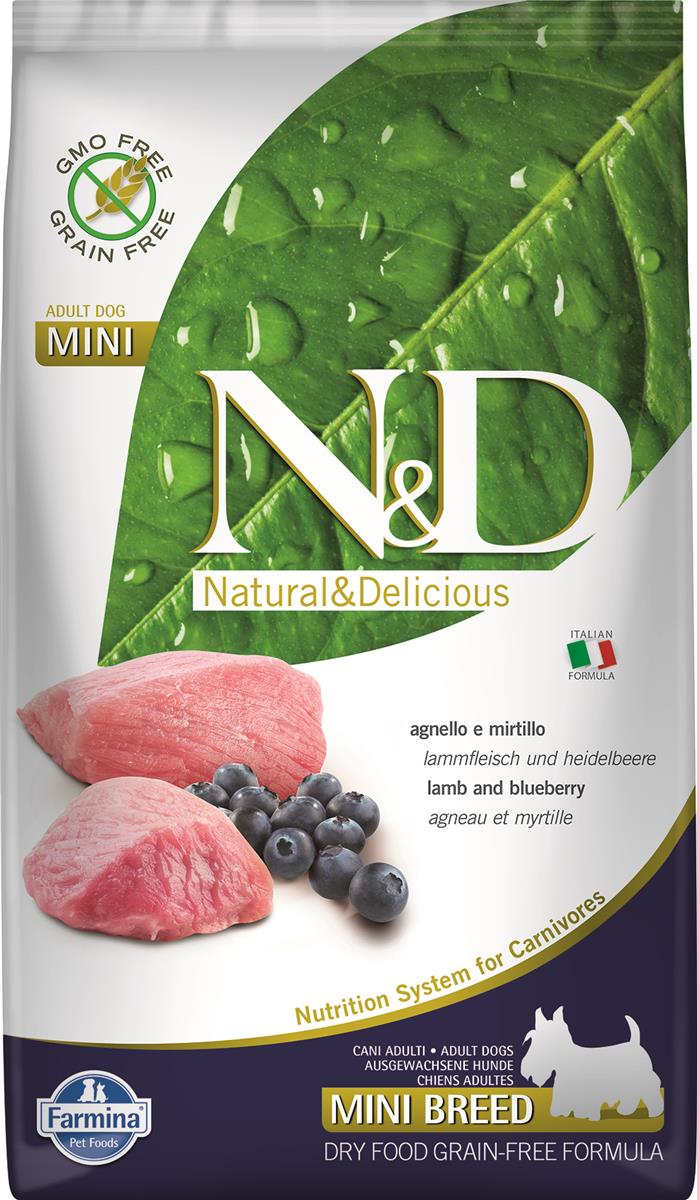 FARMINA N&D DOG PRIME  LAMB AND BLUEBERRY ADULT MINI 2.5KG