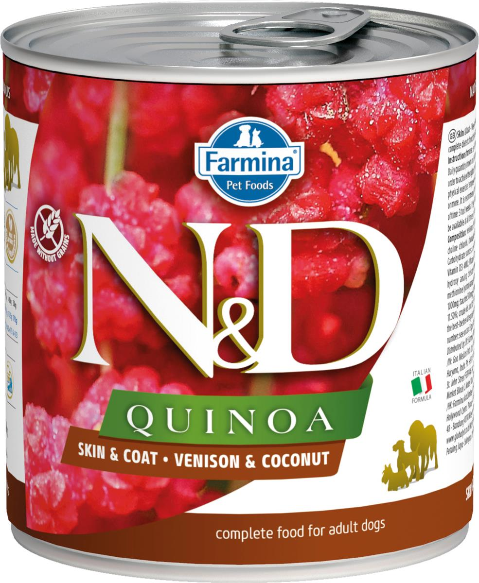 FARMINA N&D DOG QUINOA VENISON 285G CAN