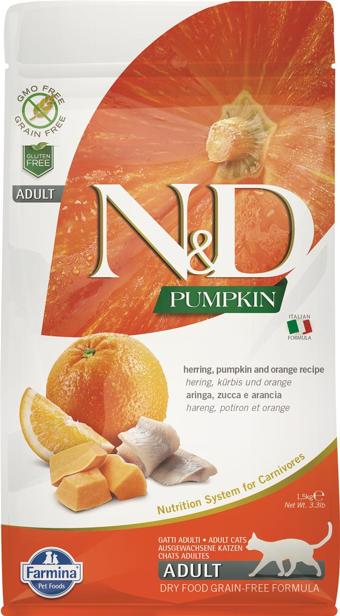 FARMINA N&D CAT PUMPKIN HERRING ADULT 1,5 KG