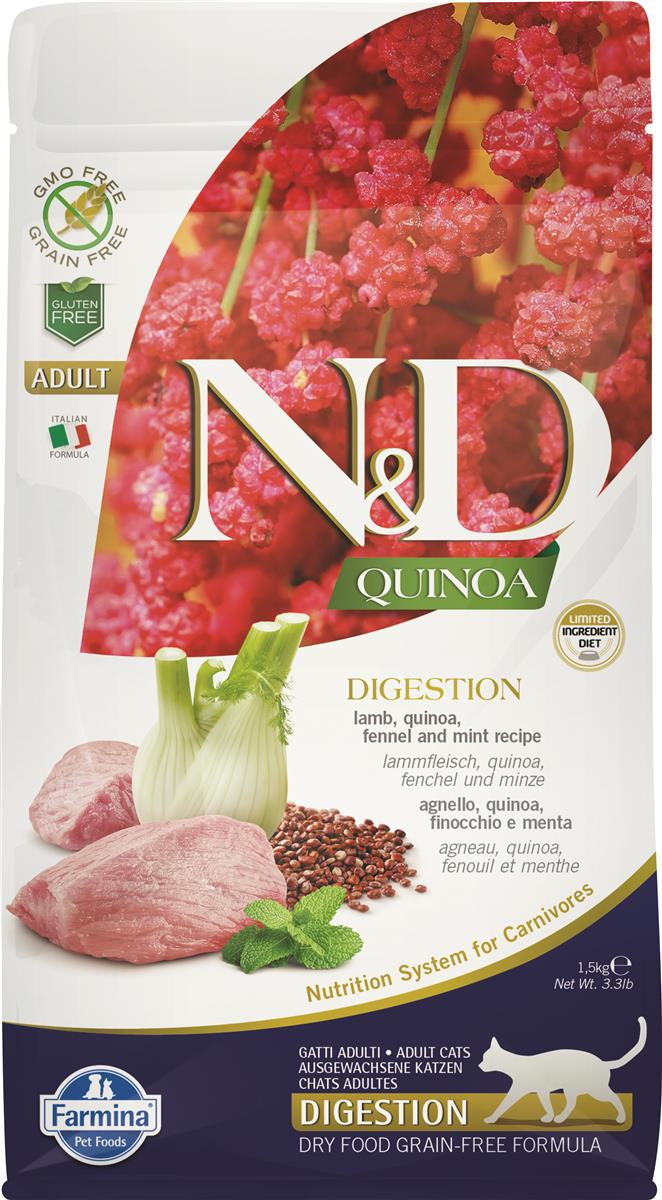 FARMINA N&D CAT QUINOA DIGESTION LAMB 1,5 KG