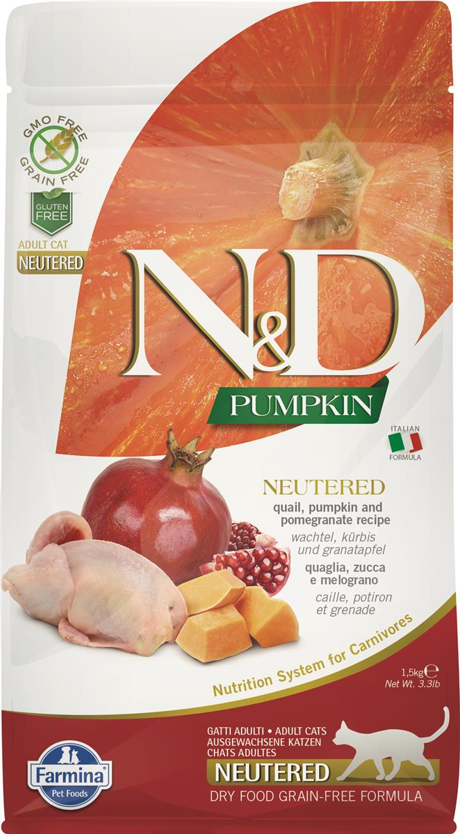 FARMINA N&D CAT PUMPKIN QUAIL NEUTERED 1,5 KG