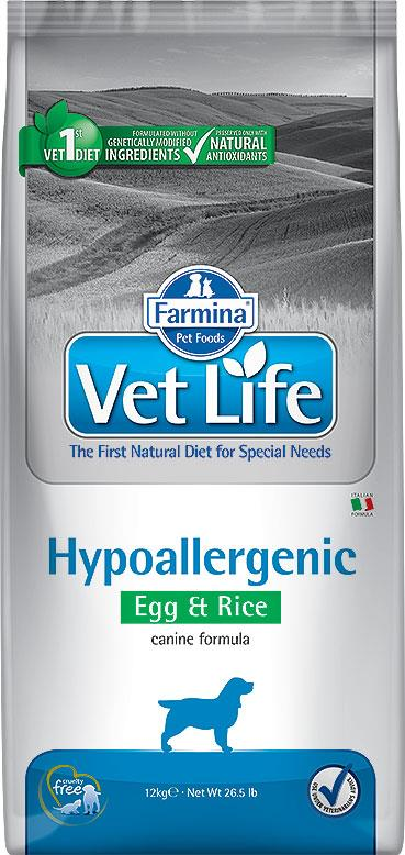 FARMINA VET LIFE ND DOG HYPOALLERGENIC EGG & RICE 12 KG