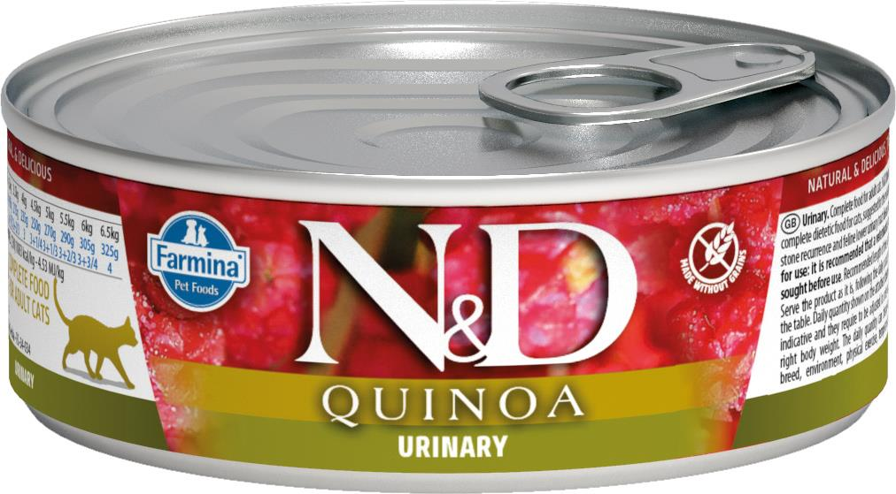 FARMINA N&D CAT QUINOA URINARY 80G CAN