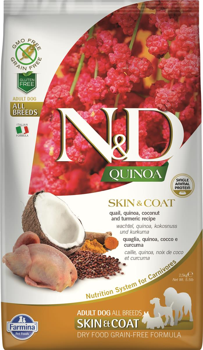 FARMINA N&D DOG QUINOA SKIN & COAT QUAIL 2,5 KG