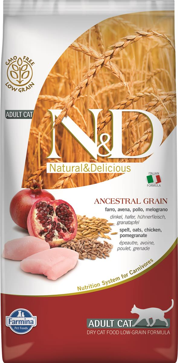 FARMINA N&D CAT LOW GRAIN CHICKEN & POMEGR 5 KG
