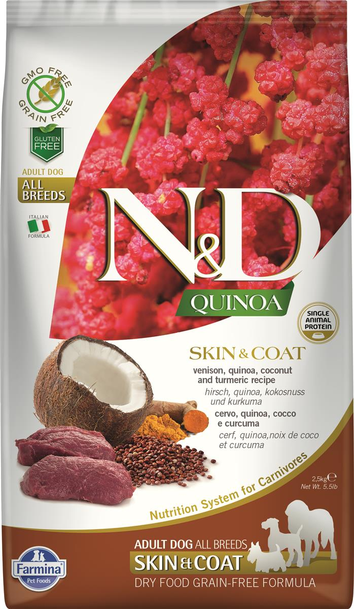 FARMINA N&D DOG QUINOA SKIN & COAT VENISON 2,5 KG
