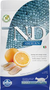 FARMINA N&D CAT OCEAN HERRING & ORANGE ADULT 1,5 KG
