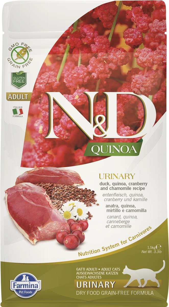 FARMINA N&D CAT QUINOA URINARY DUCK 1,5 KG
