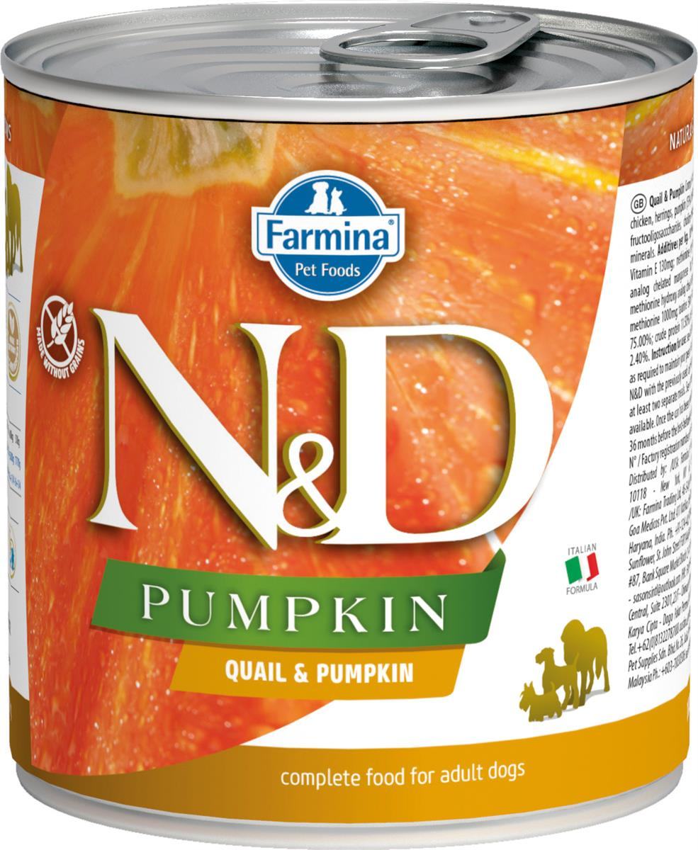 FARMINA N&D DOG PUMPKIN QUAIL 285G CAN