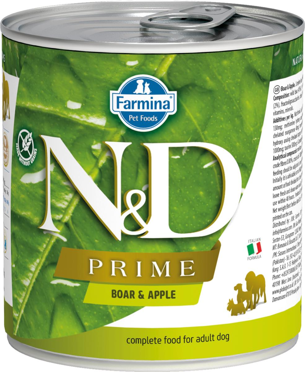 FARMINA N&D DOG PRIME BOAR&APPLE 285G CAN