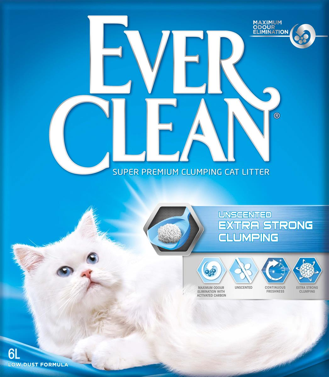 Ever Clean Extra Strong Clumping Unscented, 6 ltr