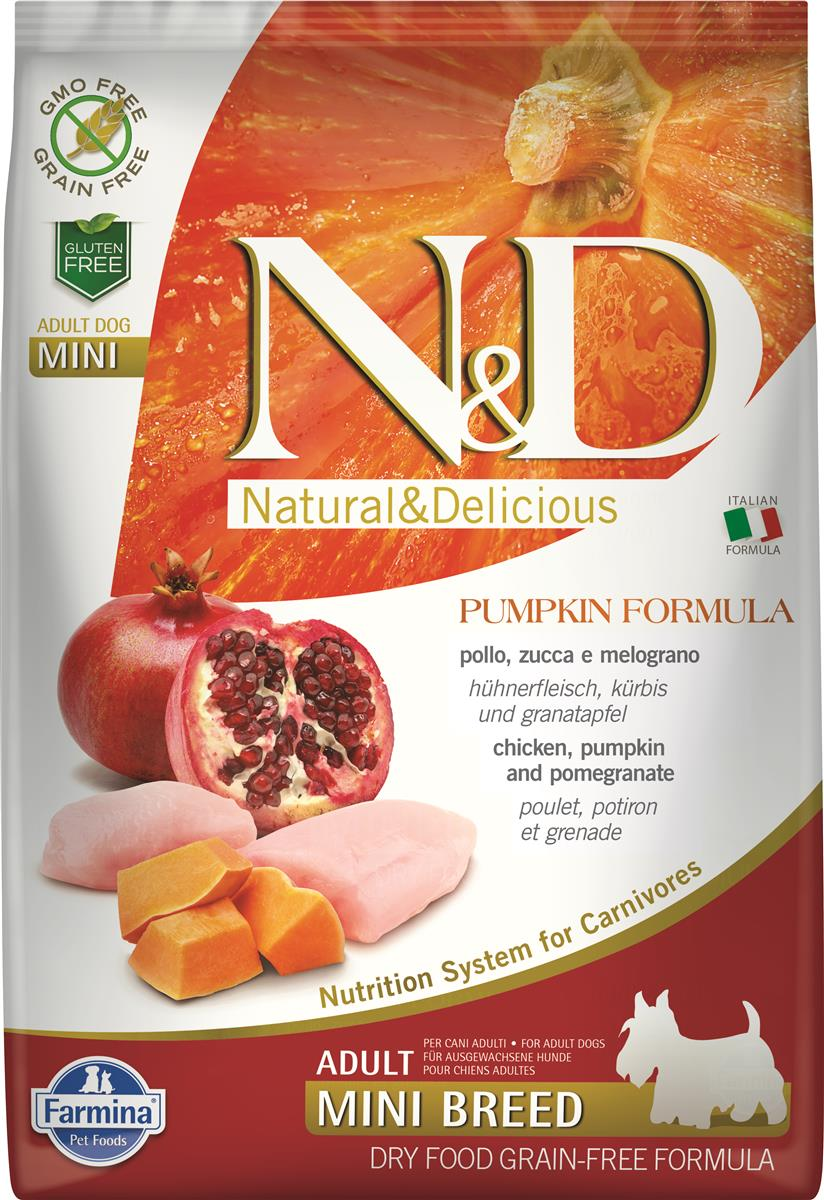 FARMINA N&D DOG PUMPKIN CHICKEN & POMEGR ADULT MINI 7 KG