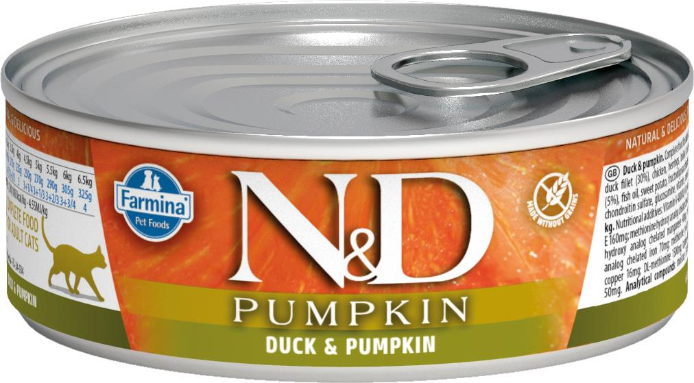FARMINA N&D CAT PUMPKIN DUCK 80G CAN