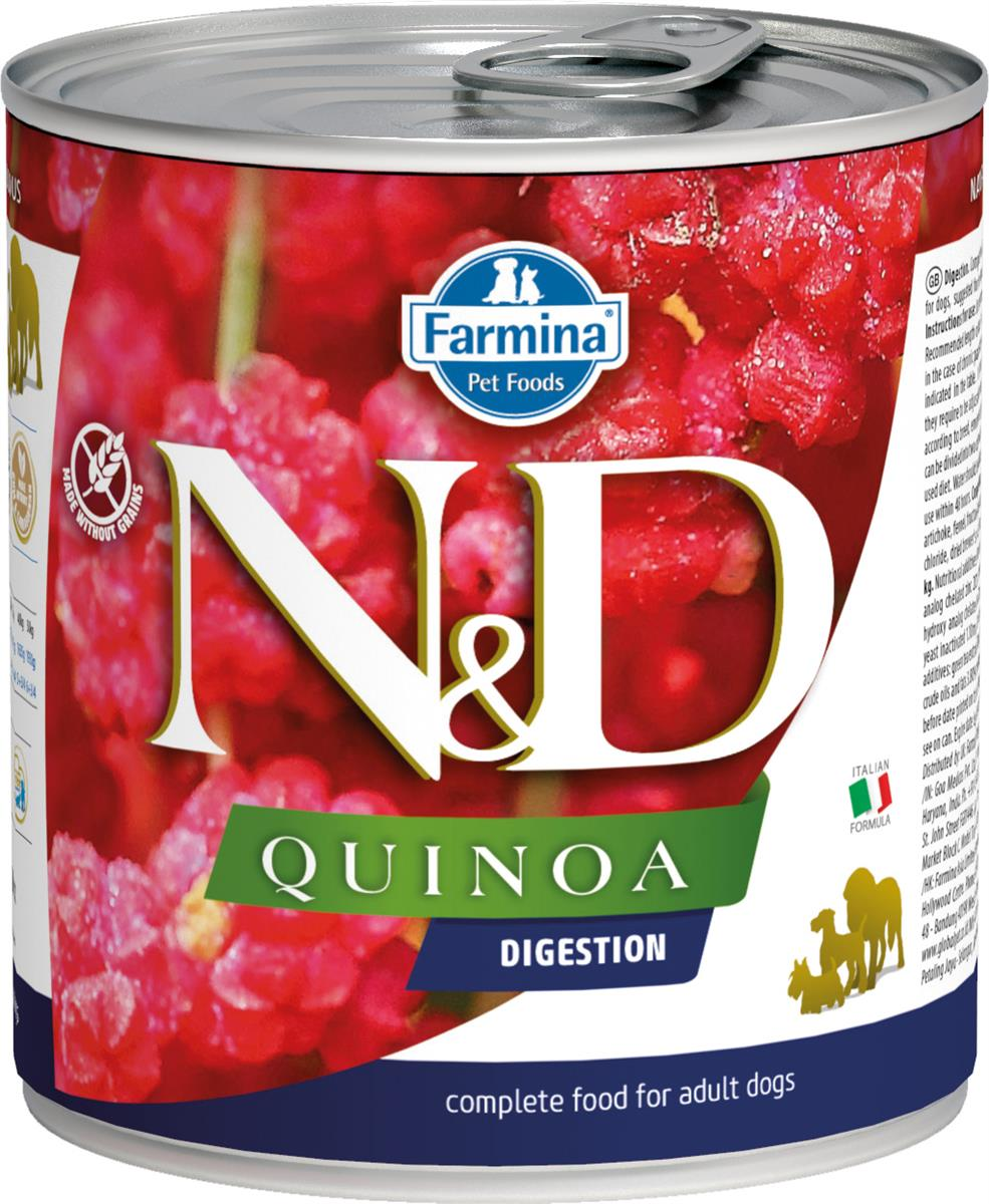 FARMINA N&D DOG QUINOA DIGESTION 285G CAN