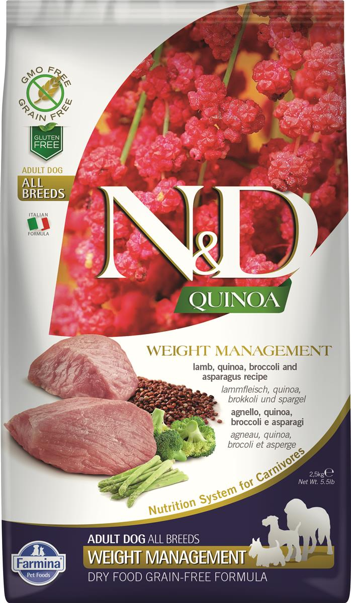 FARMINA N&D DOG QUINOA WEIGHT MANAGEMENT LAMB 2,5 KG