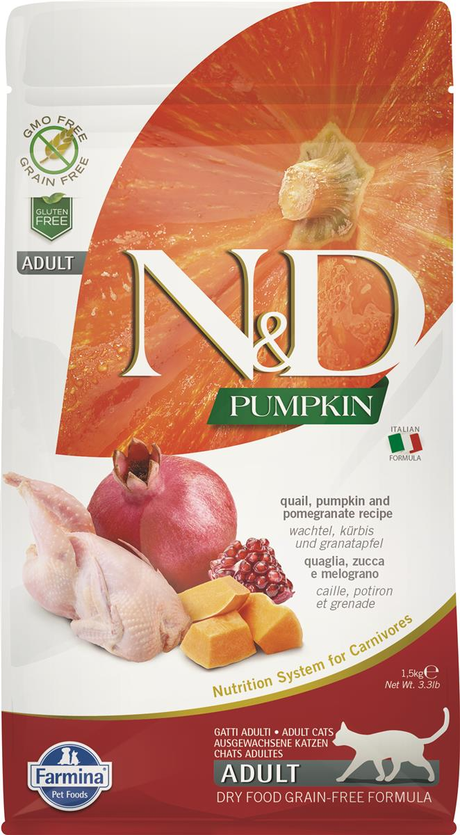 FARMINA N&D CAT PUMPKIN QUAIL ADULT 1,5 KG