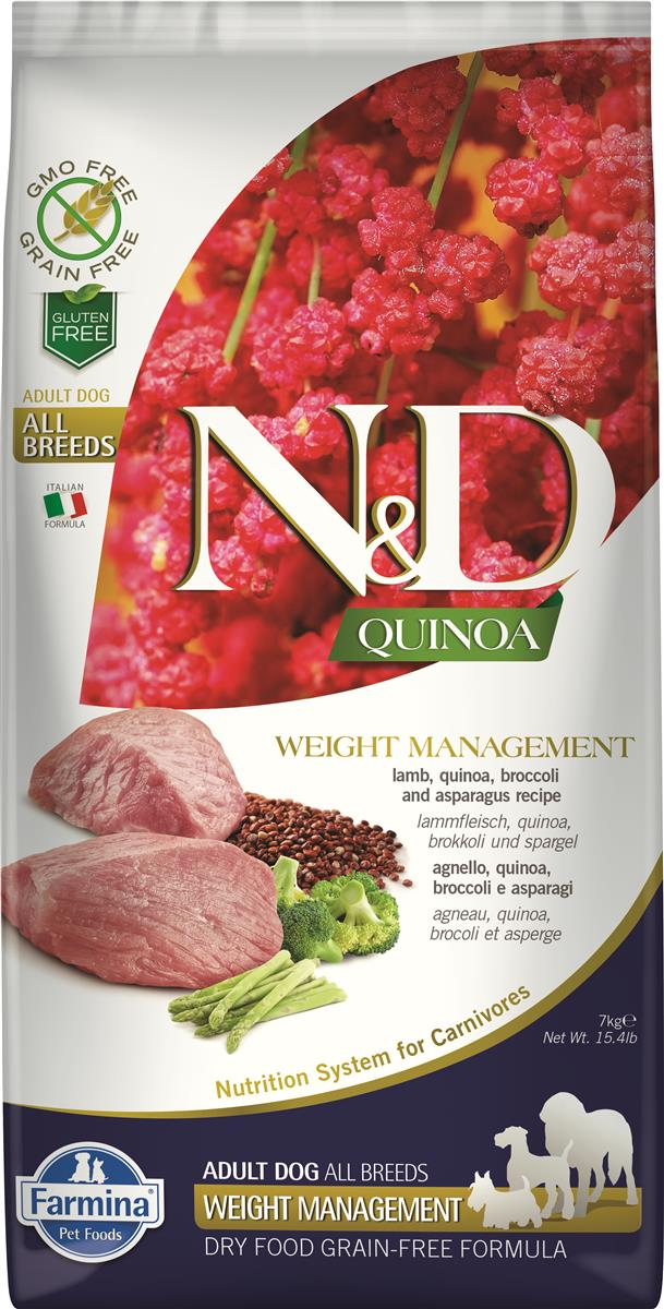 FARMINA N&D DOG QUINOA WEIGHT MANAGEMENT LAMB  7 KG