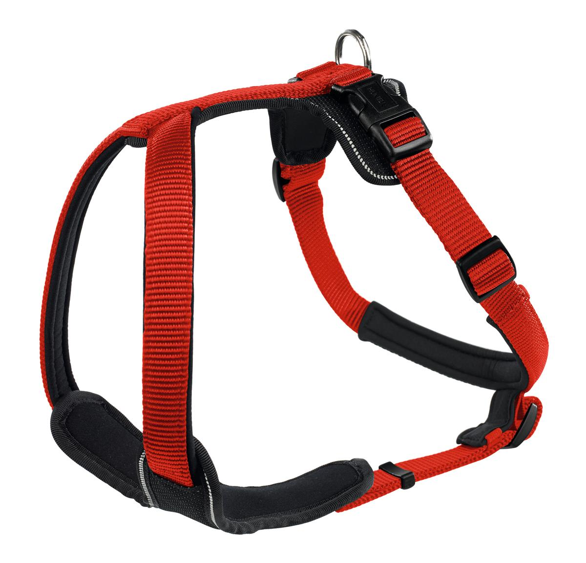 Harness Neopren XS 38-48 cm, 15 mm Nylon red/Neopren black