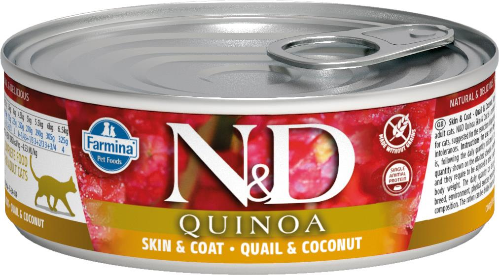 FARMINA N&D CAT QUINOA QUAIL&COCONUT 80G CAN