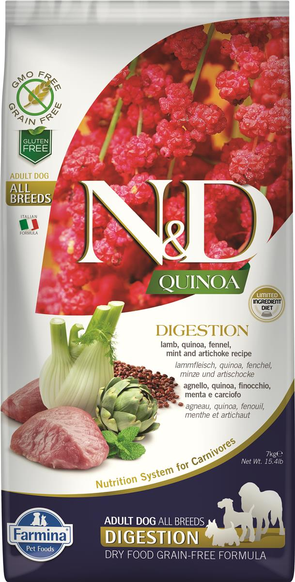 FARMINA N&D DOG QUINOA DIGESTION LAMB 7 KG
