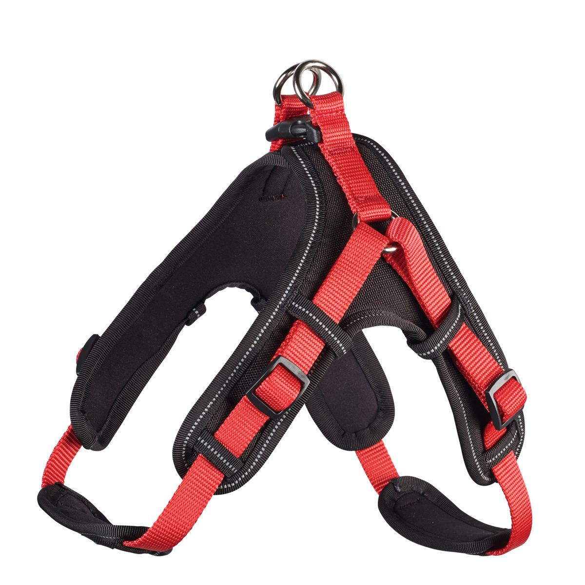 Harness Neoprene Vario Quick L 67-80 cm, 25 mm red