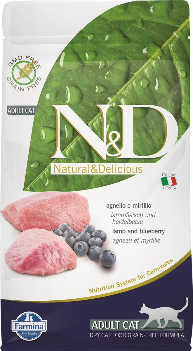 FARMINA N&D CAT PRIME  LAMB & BLUEBERRY ADULT 1.5KG