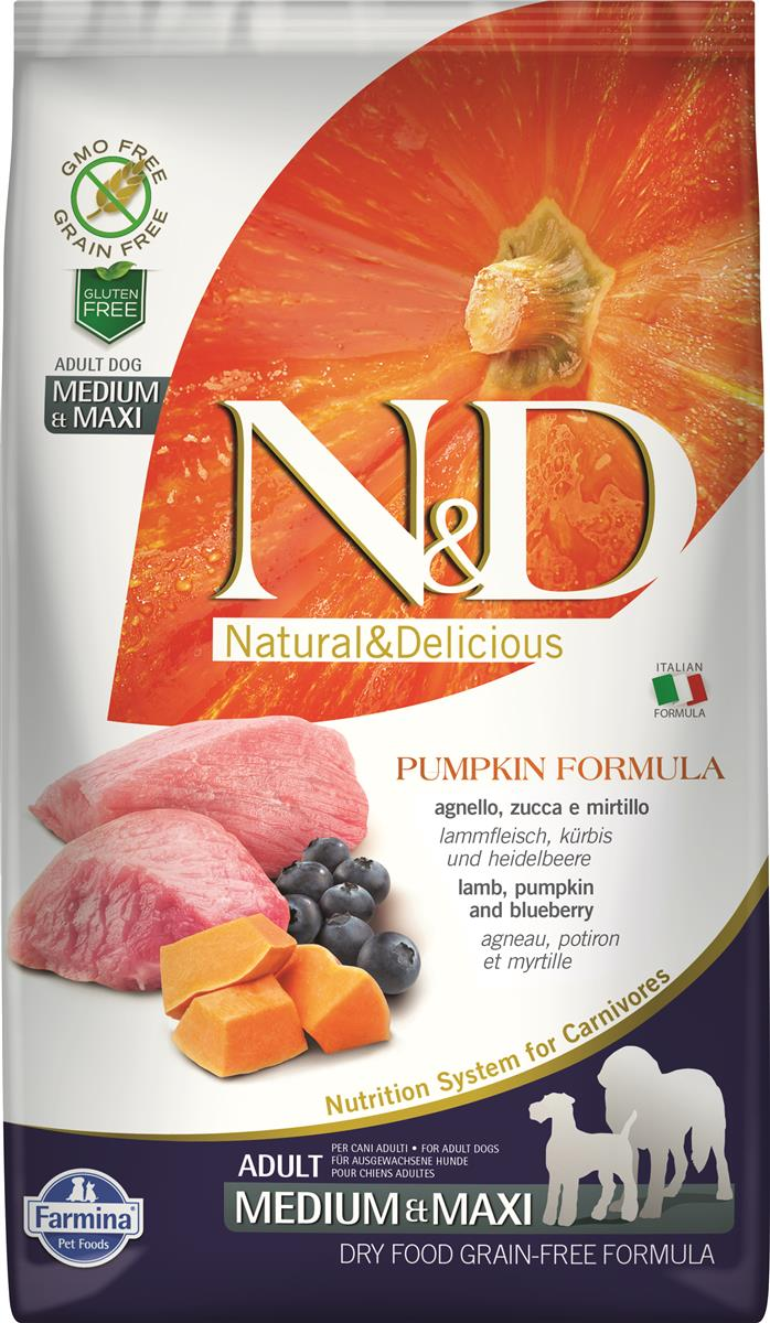 FARMINA N&D DOG PUMPKIN LAMB & BLUEBER ADULT MED/MAX 2,5 KG