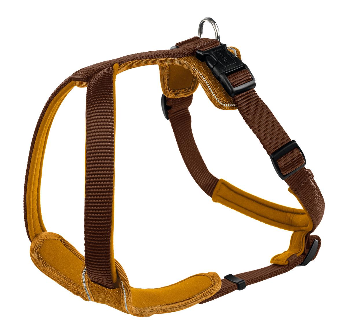 Harness Neopren XS 38-48 cm, 15 mm brown/caramel