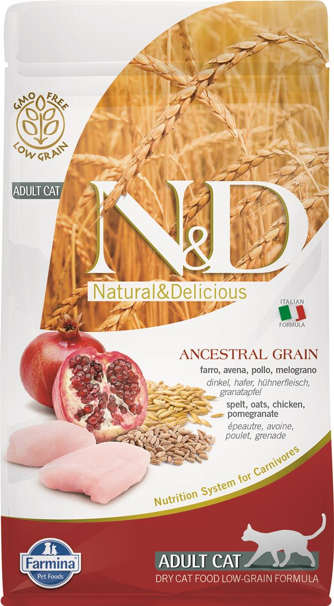 FARMINA N&D CAT LOW GRAIN CHICKEN & POMEGR ADULT 1,5 KG