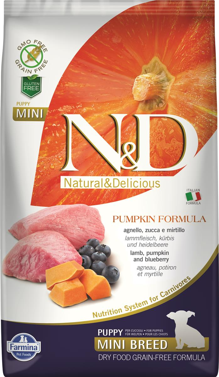 FARMINA N&D DOG PUMPKIN LAMB & BLUEBERRY PUP MINI 2,5 KG