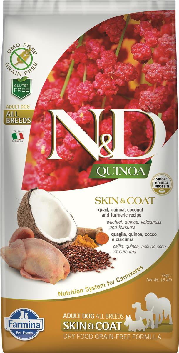 FARMINA N&D DOG QUINOA SKIN & COAT QUAIL 7 KG