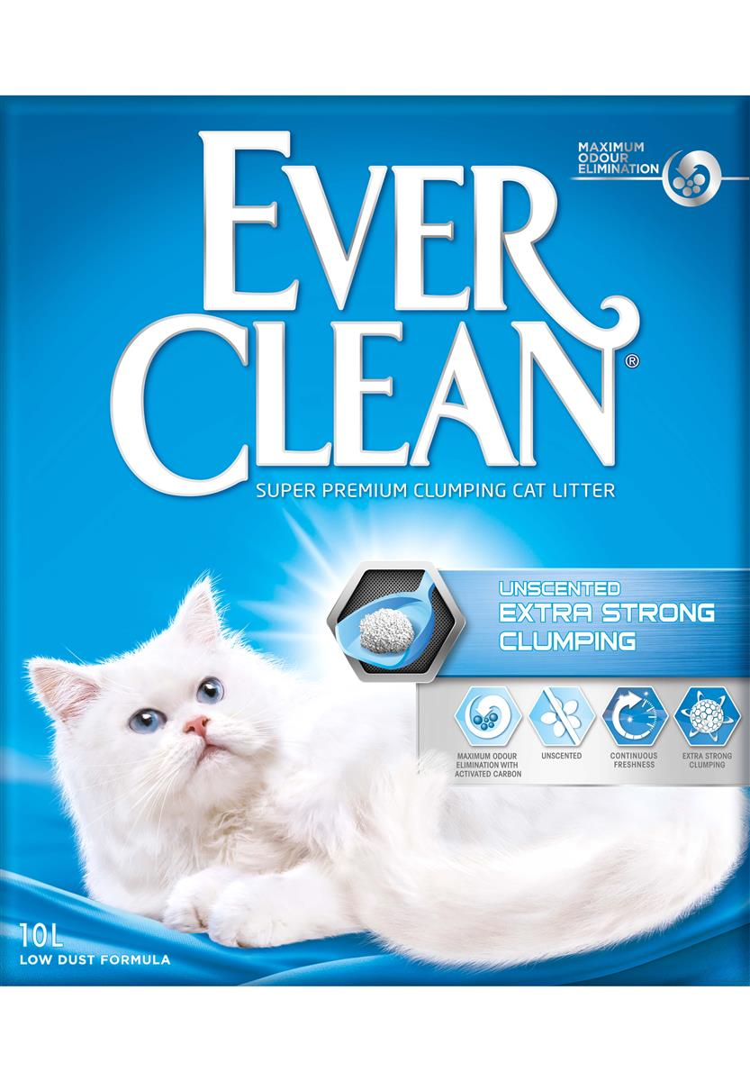 Ever Clean Extra Strong Clumping Unscented, 10 ltr