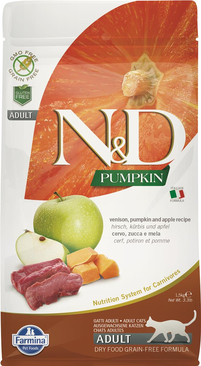 FARMINA N&D CAT PUMPKIN VENISON ADULT 1,5 KG