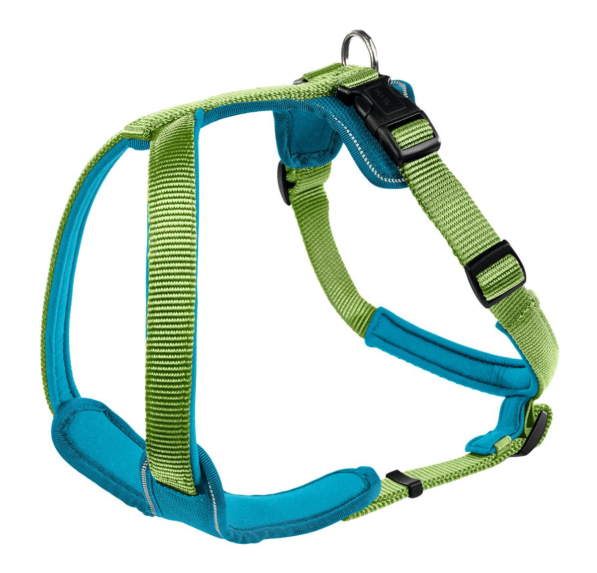 Harness Neopren XS 38-48 cm, 15 mm light green/teal