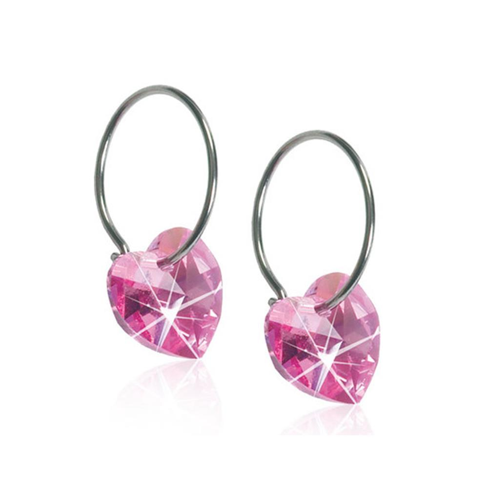 CJ NT RING HEART ROSE 14/10 MM