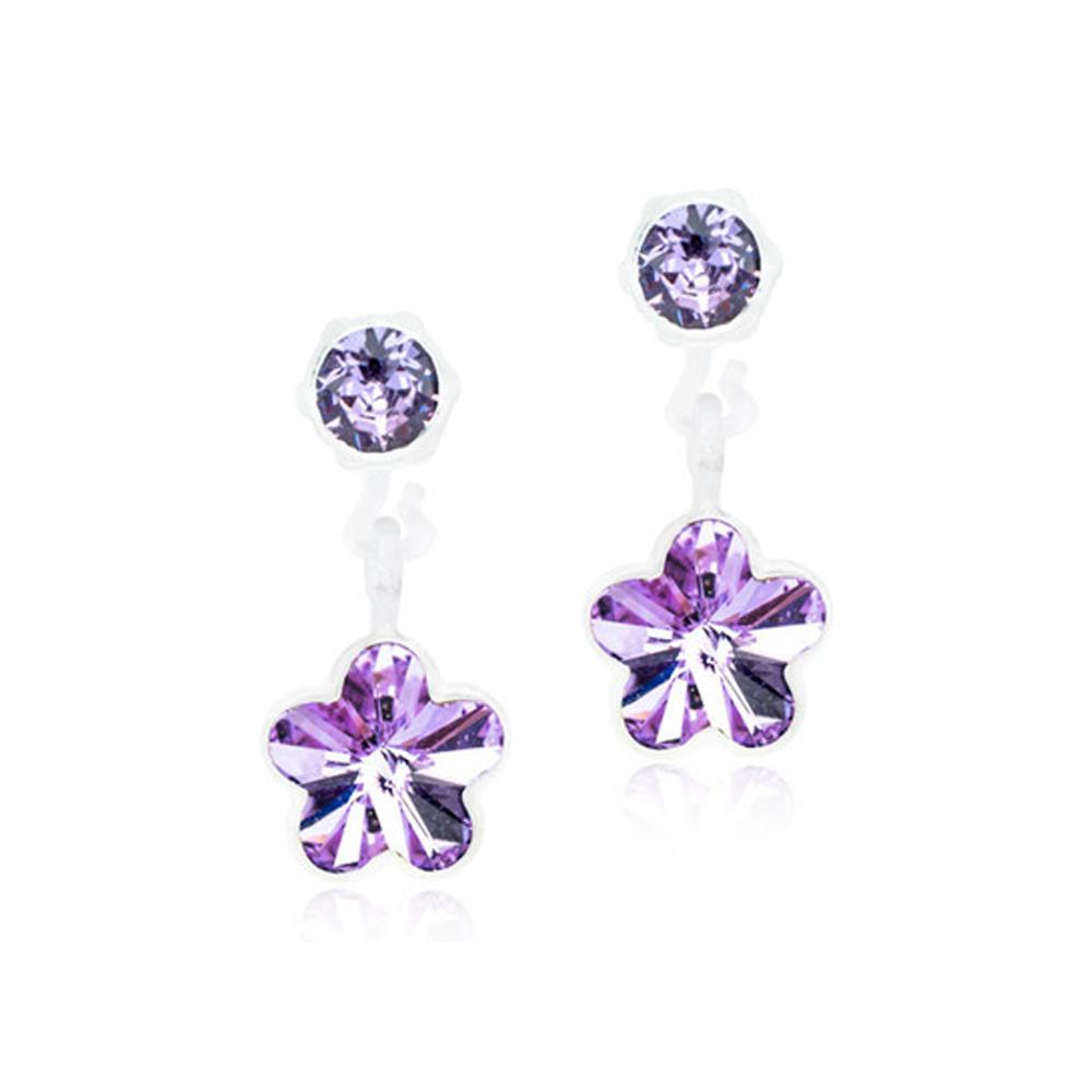 CJ MP PENDANT FLOWER VIOLET 6MM