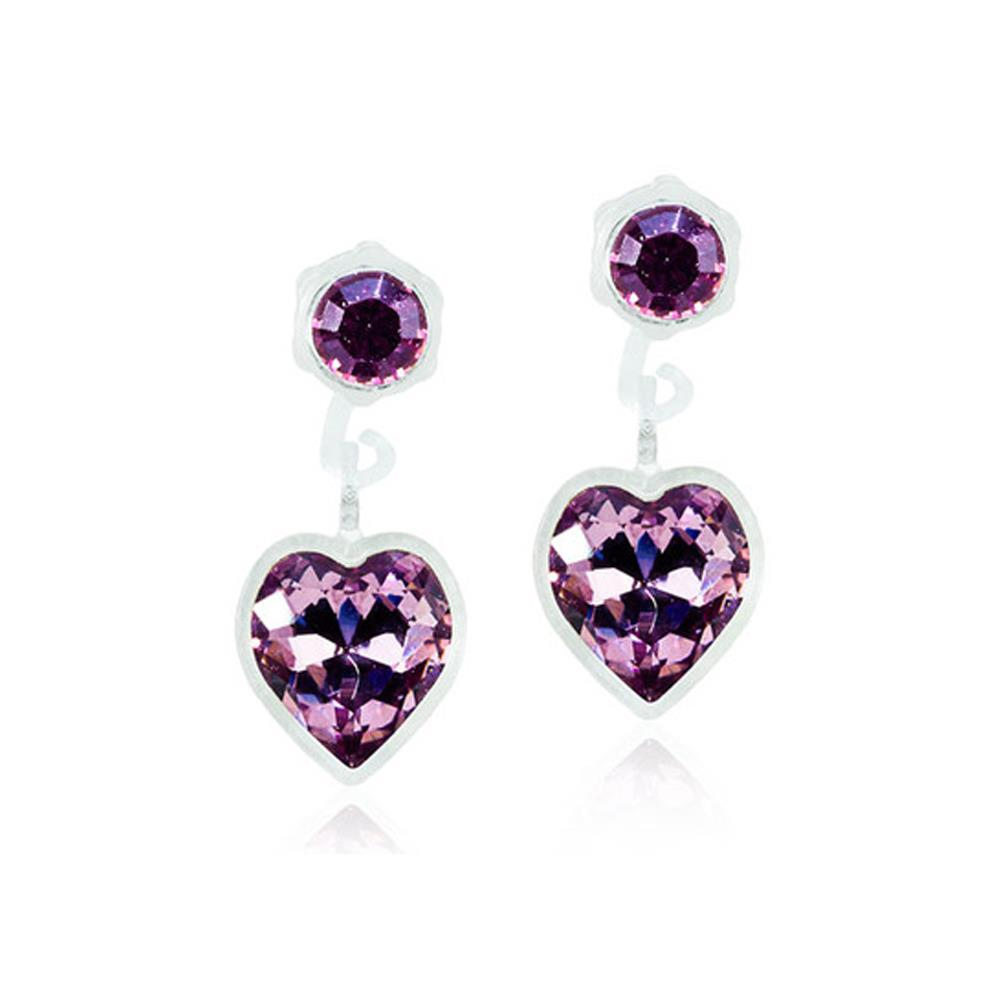 CJ MP PENDANT HEART LIGHT AMETHYST 4/6MM