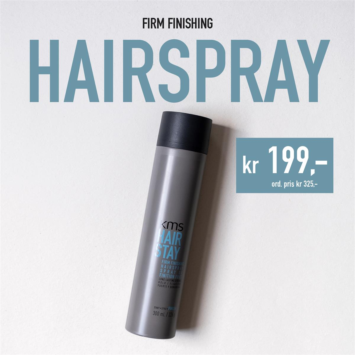 KMS -  FIRM FINISHING HAIRSPRAY - KAMPANJE 2020