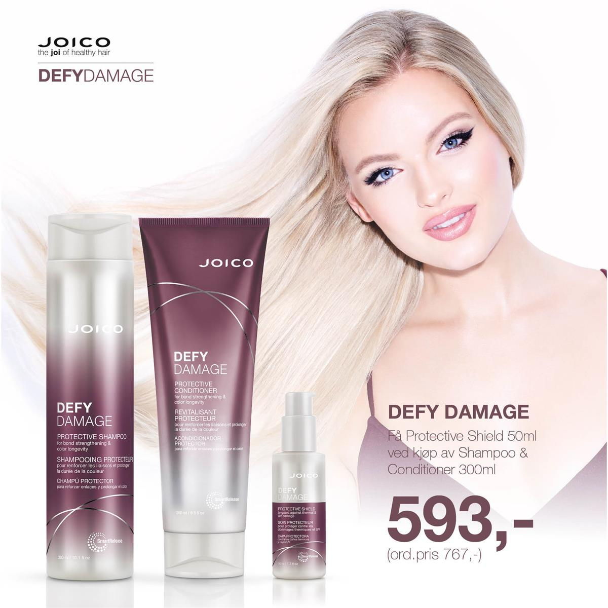 JOICO DEFY DAMAGE - KAMPANJE SEPTEMBER 2019