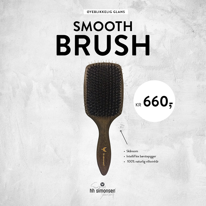 HH Simonsen Smooth Brush - Kampanje oktober 2020