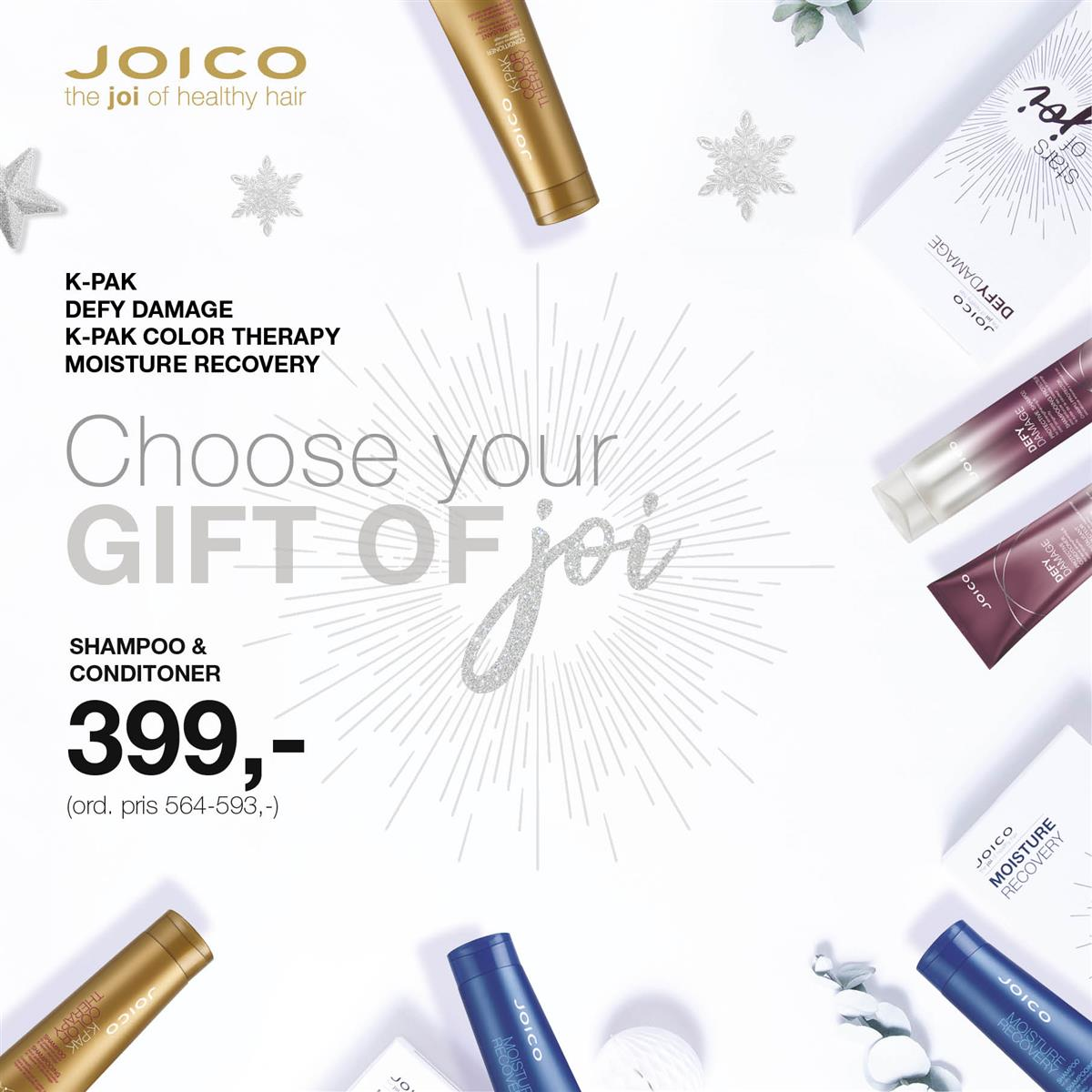 JOICO JULEKAMPANJE GIFT OF JOY - KAMPANJE NOVEMBER 2019
